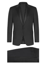Canadian made Black Super 120s Wool Tuxedo from Samuelsohn