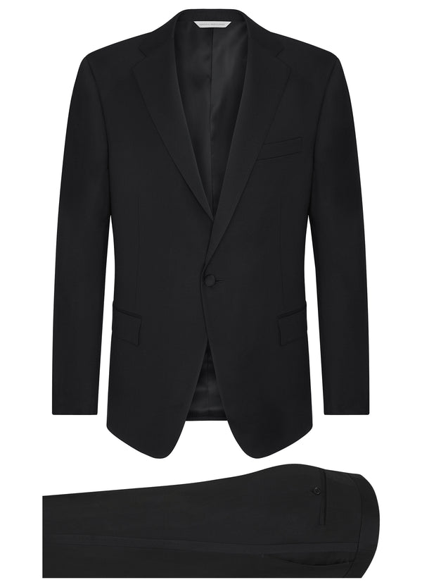 Canadian made Black Ice Wool Classic Tuxedo from Samuelsohn
