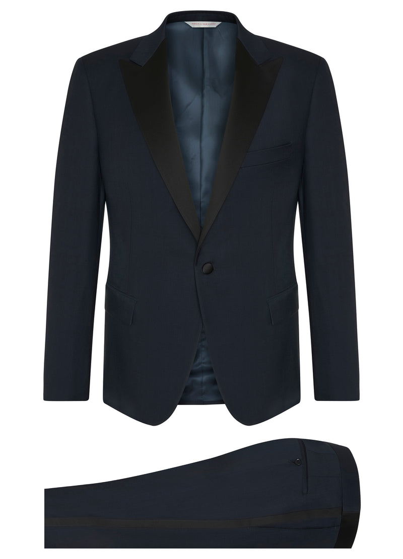 Canadian made Navy Ice Wool Tuxedo from Samuelsohn