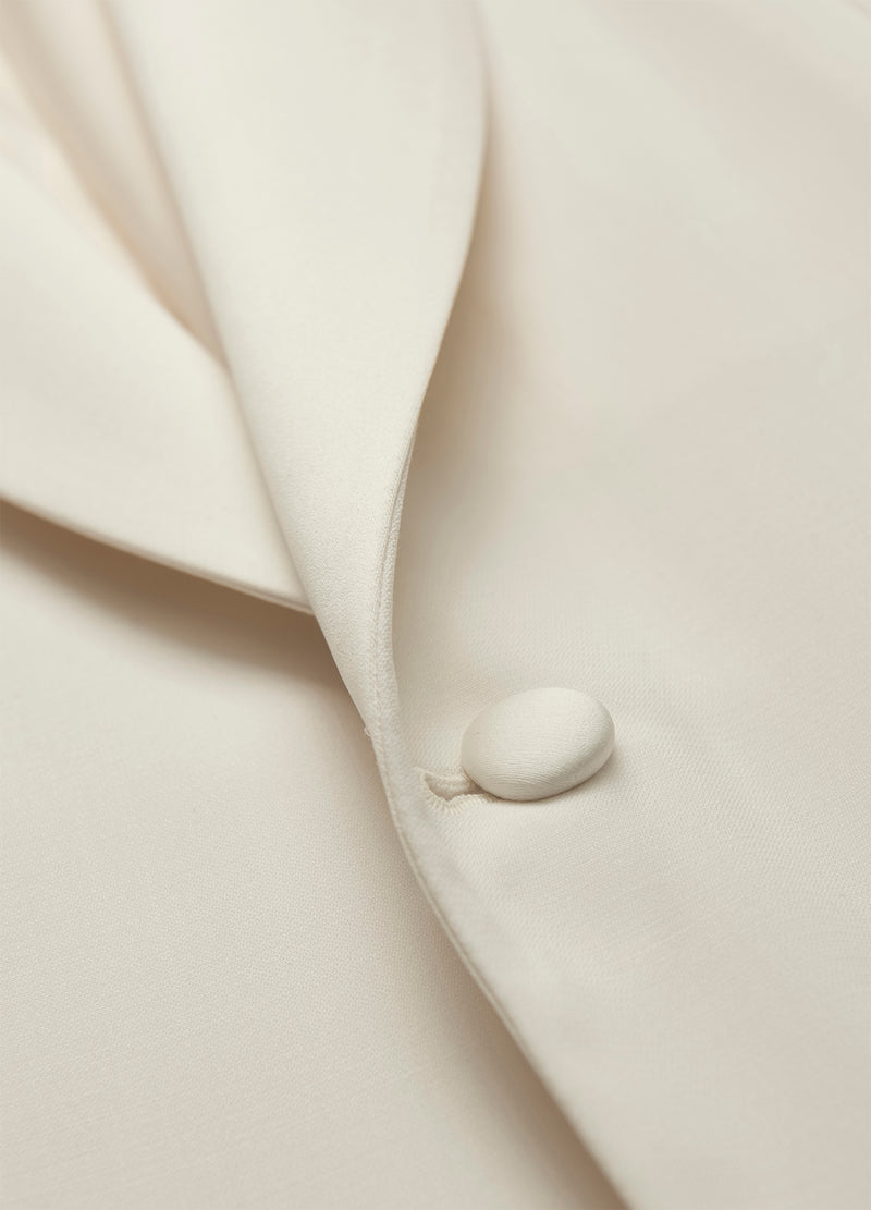 Ivory Shawl Collar Dinner Jacket