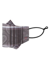 Pewter Jacquard Plaid Mask