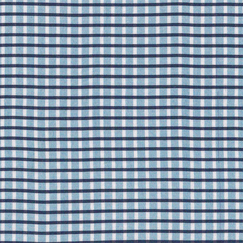 Canadian Made Stretch Blue and White Check from Samuelsohn