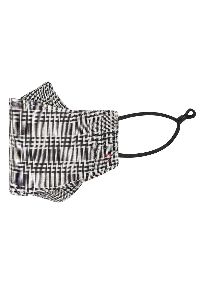 Coal Textured Glen Plaid Mask