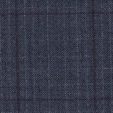 Blue Tweed Windowpane Suit - Classic Fit
