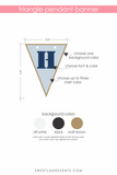 triangle banner dimensions