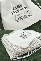 camp adventure birthday party favor bags