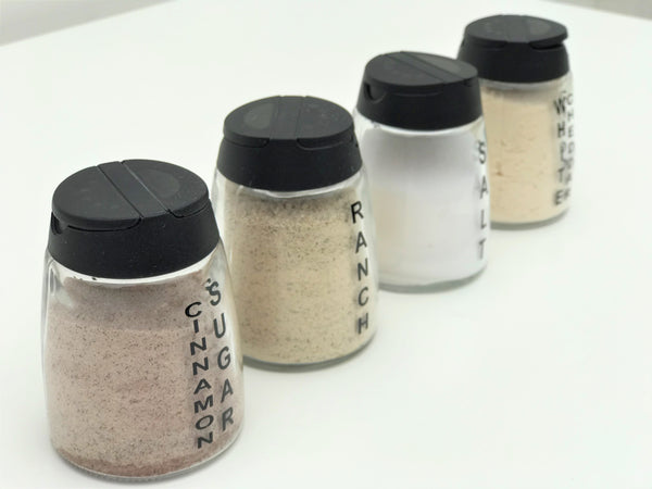 custom labeled glass seasoning jars