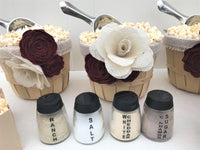 personalized popcorn flavor seasoning jars
