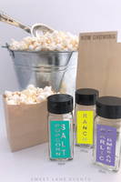 popcorn bar spice jars