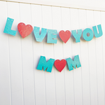love you mom photo backdrop