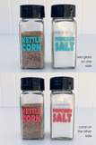 popcorn flavors sea glass coral pink labels