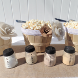 burlap flower lace popcorn bar party in a box
