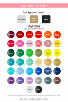 banner colors to customize your banner