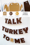 custom color Thanksgiving turkey banner