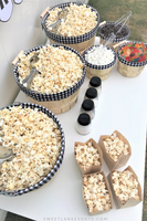 popcorn snack party table