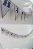 hanging happy birthday banner