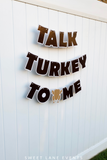 brown turkey Thanksgiving banner