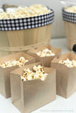 simple brown paper popcorn bag