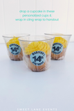 wrapped yellow cupcake cups for social distance birthday
