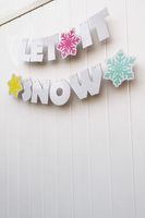 let it snow white Christmas decor
