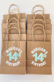 custom birthday party favor bags
