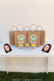party favor bags cupcake cups face cut out