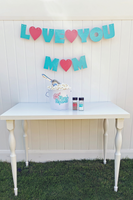 love you mom mothers day popcorn bar