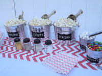 teen party popcorn movie night table