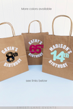 multiple colors party favor bags