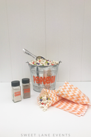 orange pumpkin popcorn bar