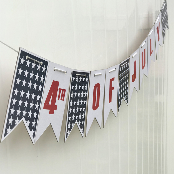 USA 4th of July banner