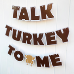 Turkey Letter Banner, custom message & colors