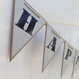 triangle shaped birthday banner