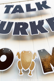 dark brown custom letter banner