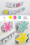let it snow custom party banner