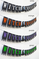 Halloween sign multiple colors