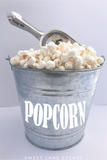popcorn container engraved custom scoop