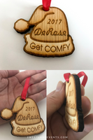Christmas Ornament | Santa Hat | Personalized Wood Engraved