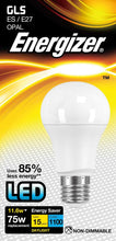 Load image into Gallery viewer, Energizer 12W (100W) LED ES E27 Standard Shape Bulb GLS