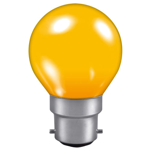 Golf Ball light bulb Amber BC cap
