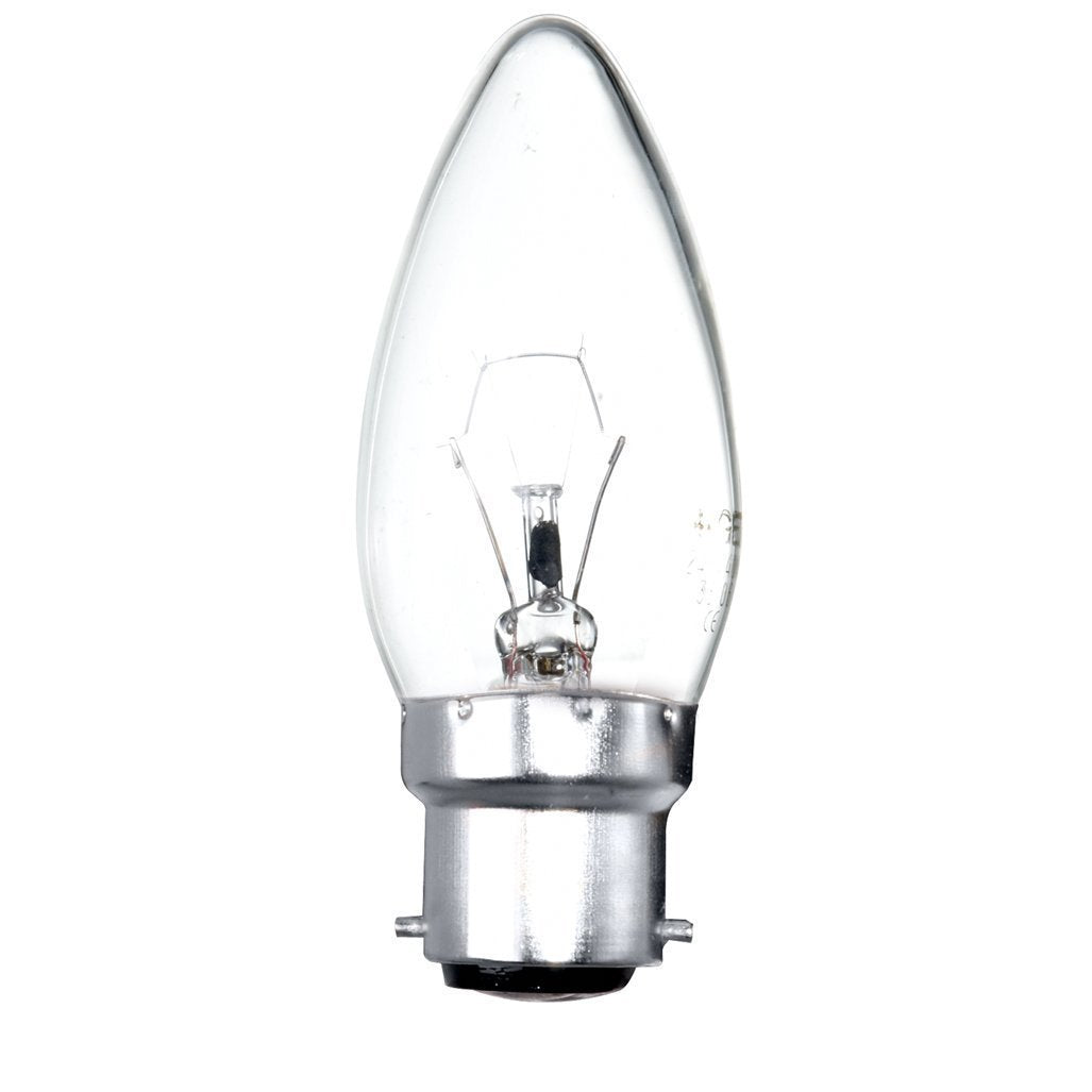 Traditional Incandescent 60w Candle Light Bulb BC B22
