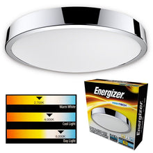 Load image into Gallery viewer, Energizer CCT 16w LED Round Bathroom Light Flush IP44 - Warm Cool Daylight