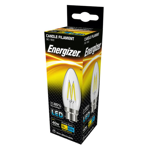 Energizer Candle LED Filament B22 BC Bayonet Cap Box