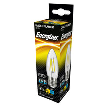 Load image into Gallery viewer, Energizer 4W (40W) LED Candle Filament ES E27