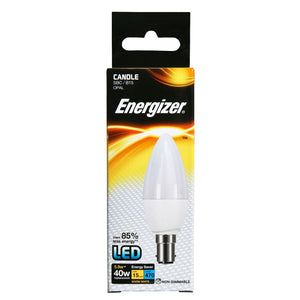 Energizer LED Candle Light Bulb 6 watt equals 40 watt SBC Bayonet Box