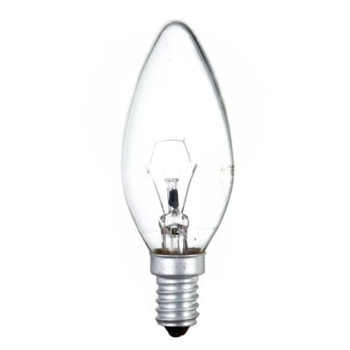 Traditional Incandescent 25w Candle Light Bulb E14 SES