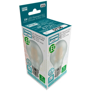 LED GLS light bulb filament pearl BC box