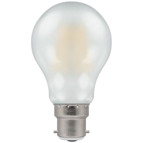 Crompton 8W (60W) LED GLS  Filament Pearl BC B22 - Dimmable