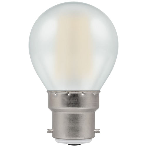 LED golf ball light bulb filament pearl BC