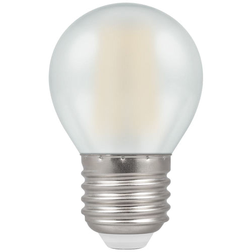 LED golf ball light bulb filament pearl ES